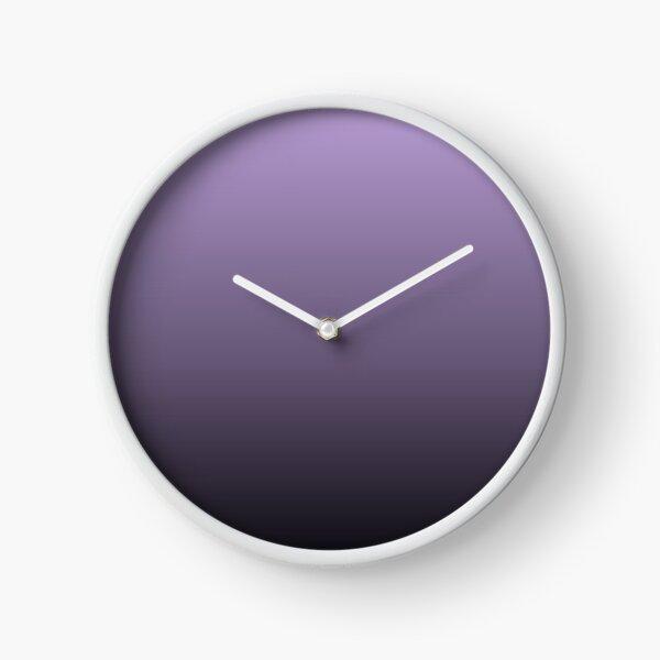 modern elegant girly black purple ombre Clock