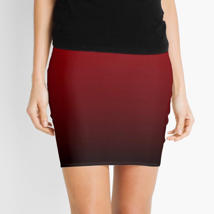vintage vampire red black burgundy ombre Mini Skirt