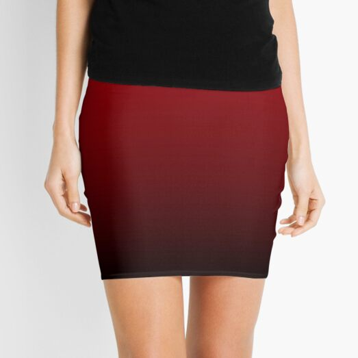 vintage vampire red black burgundy ombre Mini Skirt