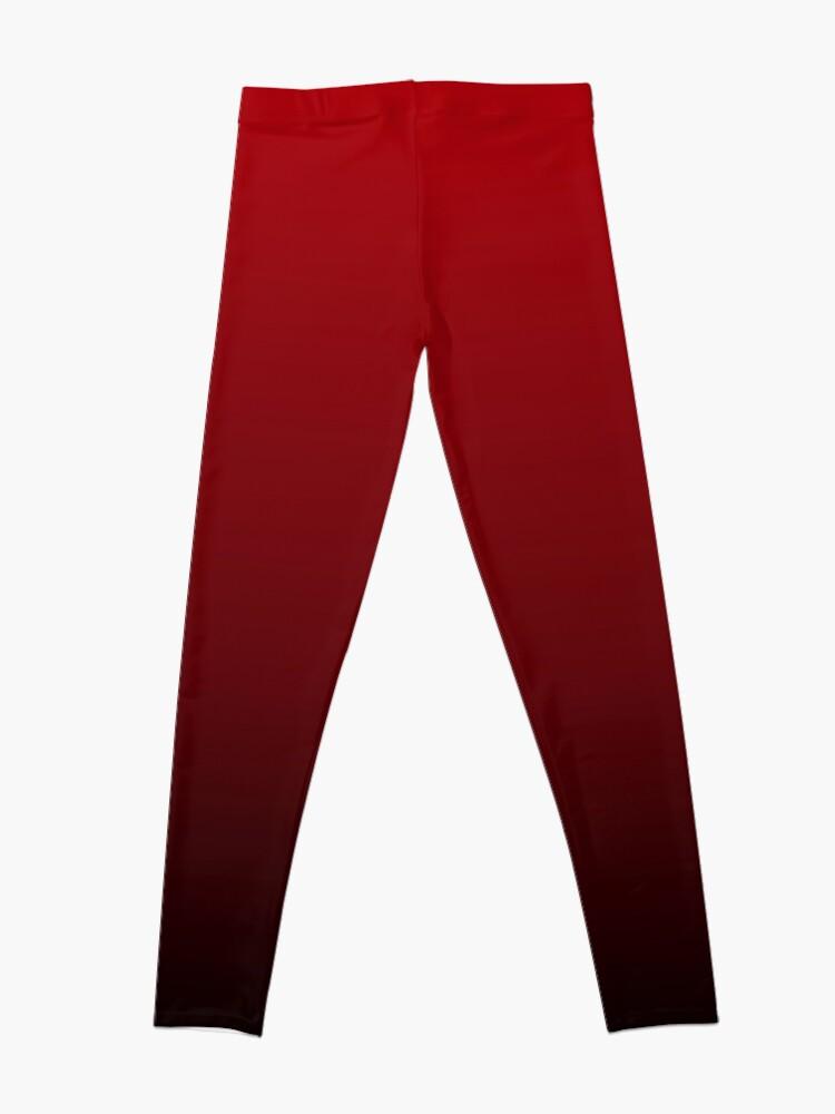Alternate view of vintage vampire red black burgundy ombre Leggings