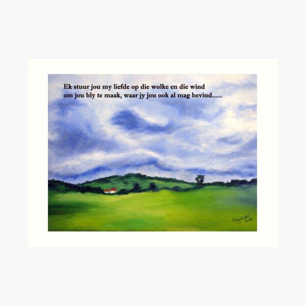 'n Poskaart/ A Post card Art Print
