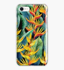 Watercolor heliconia iPhone Case/Skin