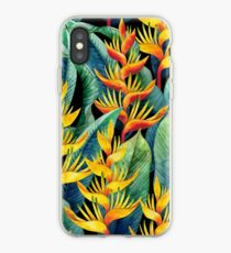 Watercolor heliconia iPhone Case