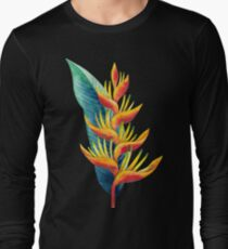 Watercolor heliconia Long Sleeve T-Shirt