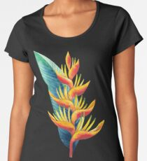 Watercolor heliconia Women's Premium T-Shirt
