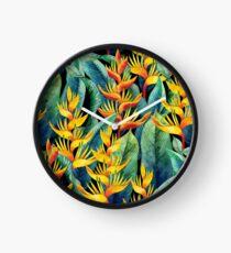 Aquarell Helikonia Uhr
