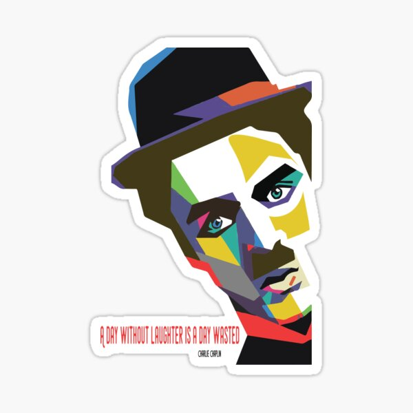 Edition limitée: Citations Charlie Chaplin Sticker