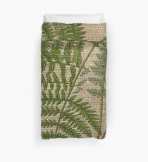 botanische Druckfarnblätter des Vintagen Laubhippies Bettbezug