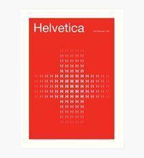 Helvetica Swiss Poster Art Print