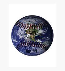 Baseball Globe Photographic Print