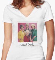 Golden Squad Goals Women's Fitted V-Neck T-Shirt