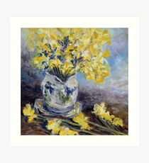 Suggestion of Daffodils Art Print