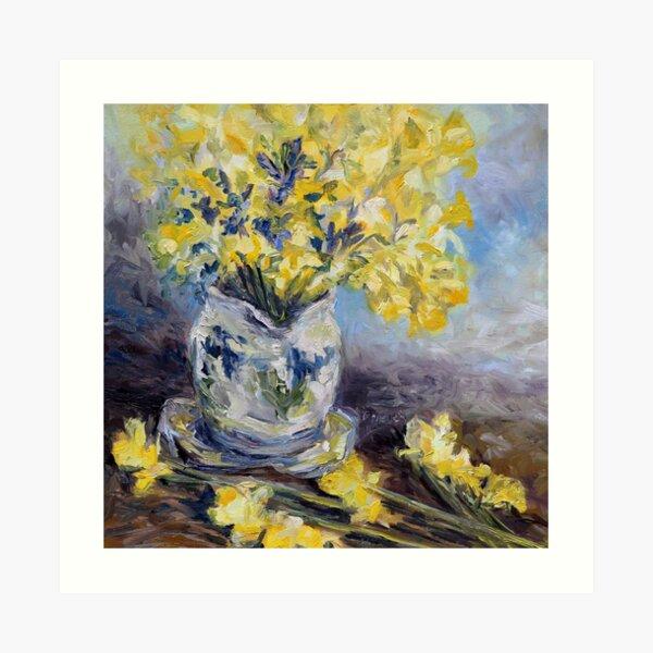 Suggestion of Daffodils Art Print