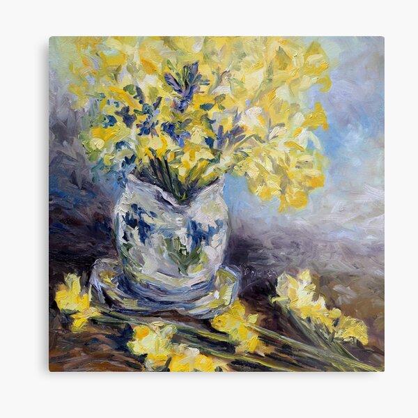 Suggestion of Daffodils Metal Print