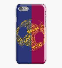 Fútbol Soccer Football Barcelona Colors iPhone Case/Skin