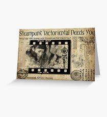 Steampunk:  Victoriental Greeting Card