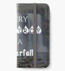 Every Teardrop is a Waterfall iPhone Wallet