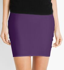 romantic elegant sophiticated Solid Royal Purple Mini Skirt