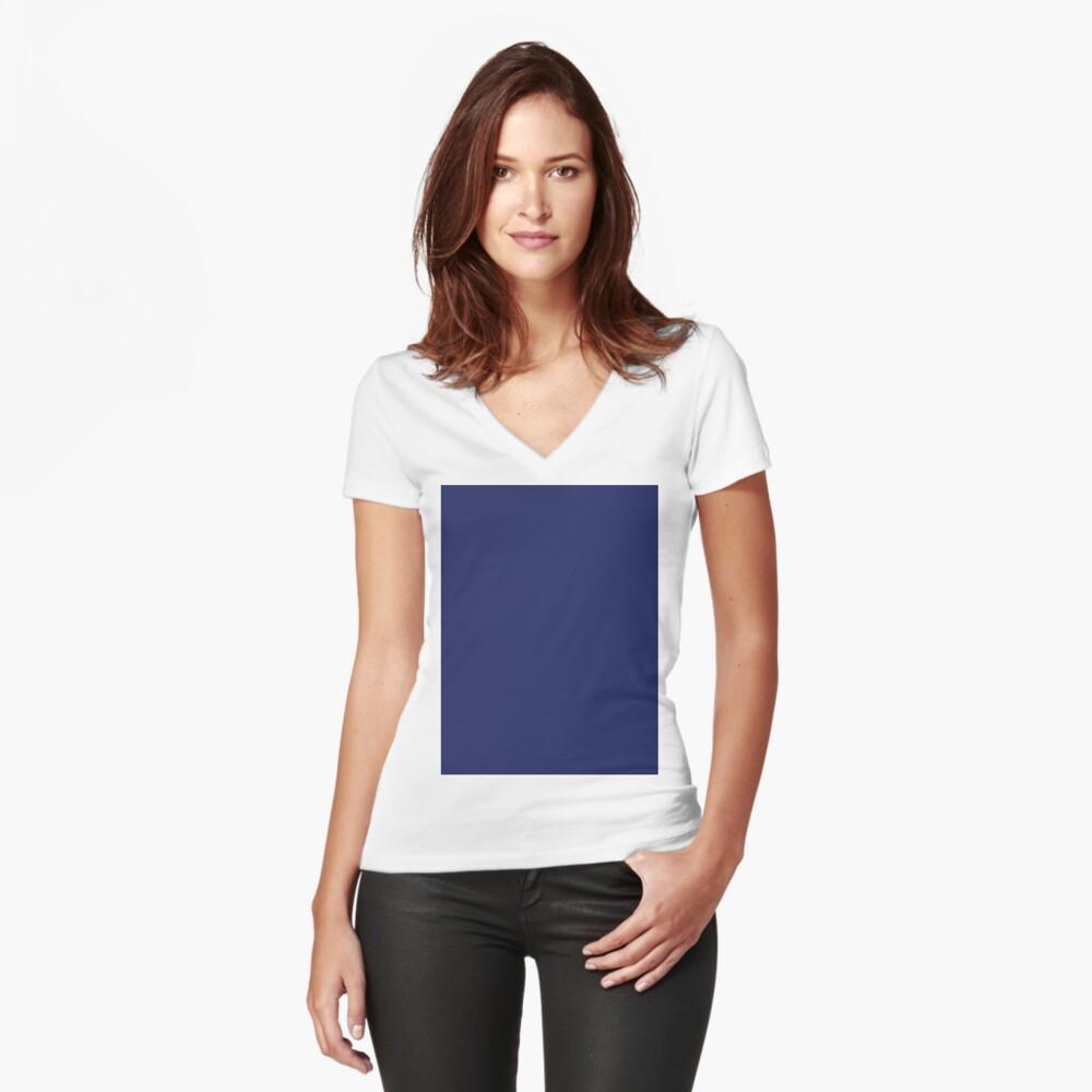 moderno con playas preppy náutico azul marino Camiseta entallada de cuello en V