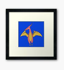 AWESOME AND COOL AND TERRIFYING PTERODACTYL ILLUSTRATION Framed Print