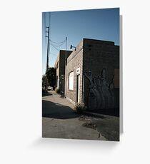 Blue Sky Graffiti Greeting Card
