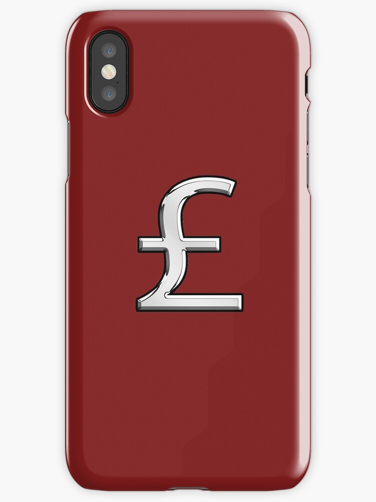British Pound Currency Symbol Iphone Cases Covers By Garaga