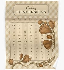 Cooking Conversions Chart Poster