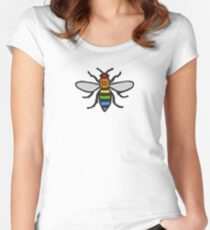 Manchester Bee, Rainbow Edition Women's Fitted Scoop T-Shirt