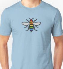Manchester Bee, Rainbow Edition Unisex T-Shirt