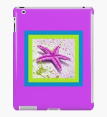 Paint Spattered Star Fish in Purple iPad Case/Skin