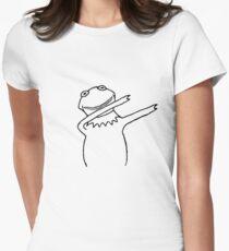 Kermit Dabbing Womens Fitted T-Shirt