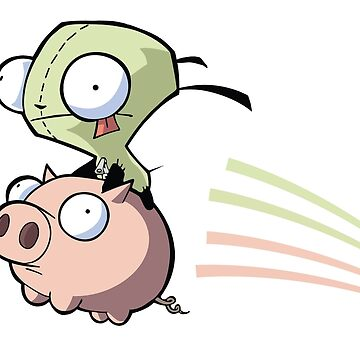 ZIM / GIR on a pig by timmehtees