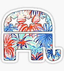 Republican Elephant - Lilly Print Sticker