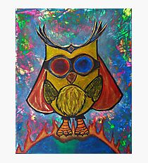 Fearless -Owl Photographic Print