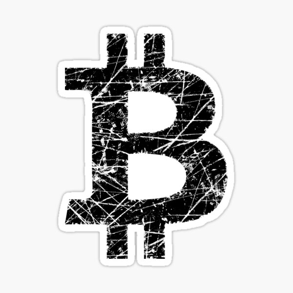 Bitcoin Currency Symbol Sticker