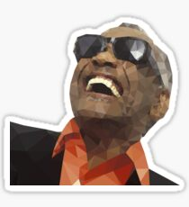 Low Poly Ray Charles Sticker