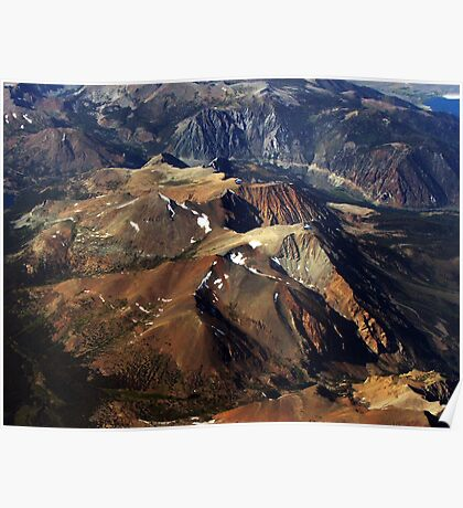 Mountains: A Bird's Eye View Poster