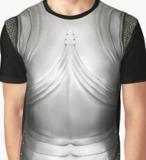 Gothic German Knight Cuirass Design Graphic T-Shirt