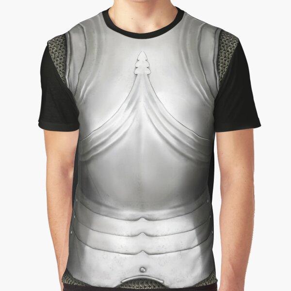 Gothic German Knight Cuirass Design Graphic T-Shirt