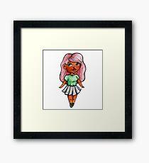 Chibi girl Framed Print