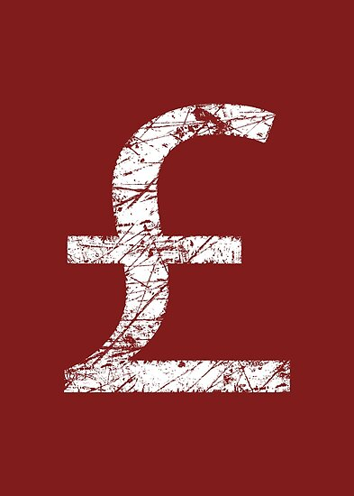 British Pound Currency Symbol Posters By Garaga Redbubble