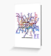 London Underground Tube Greeting Card