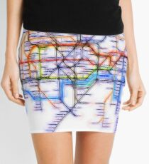 London Underground Tube Mini Skirt