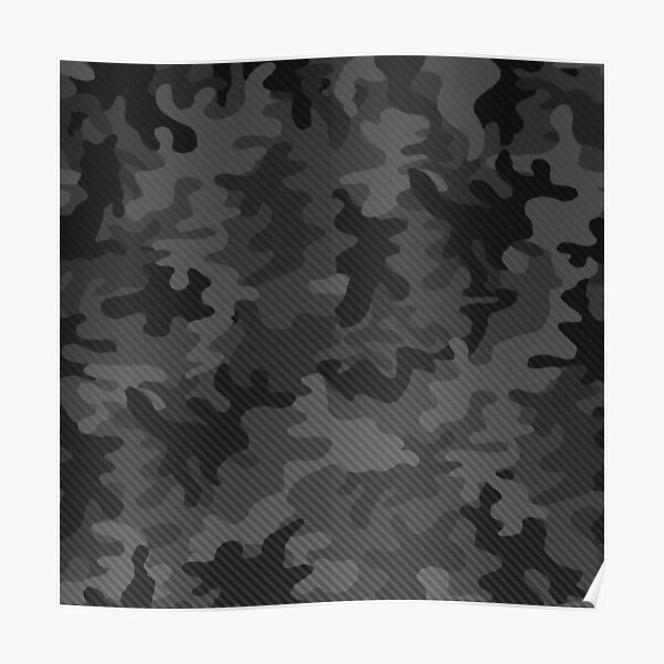Carbon camouflage design Poster