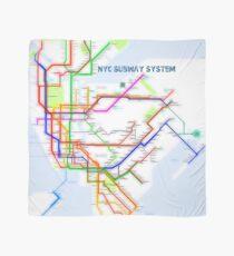 NYC U-Bahn-Karte Tuch