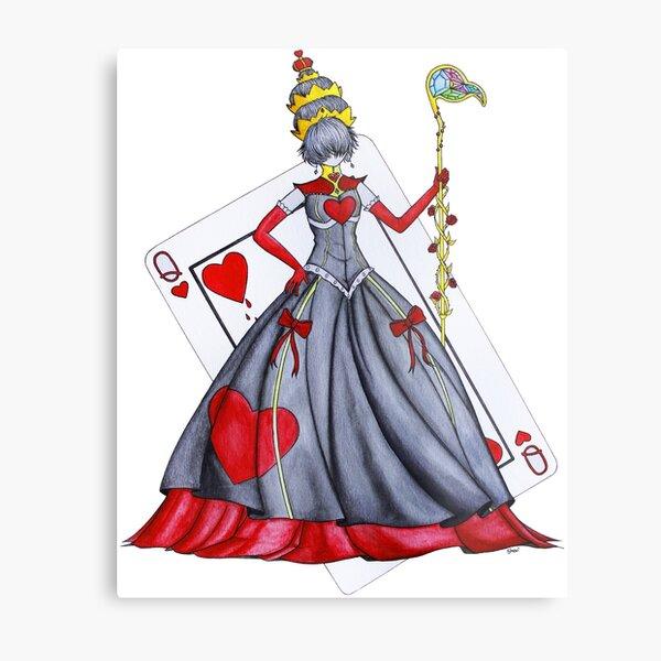Queen of Heart Metal Print