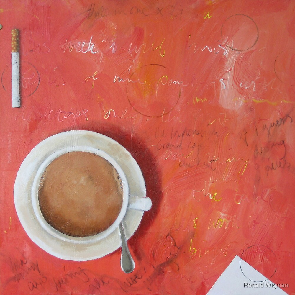 Desktop coffee cigarette by Ronald Wigman