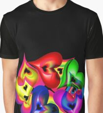 Translucent Hearts Graphic T-Shirt