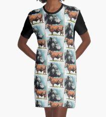 Angus Cattle Graphic T-Shirt Dress
