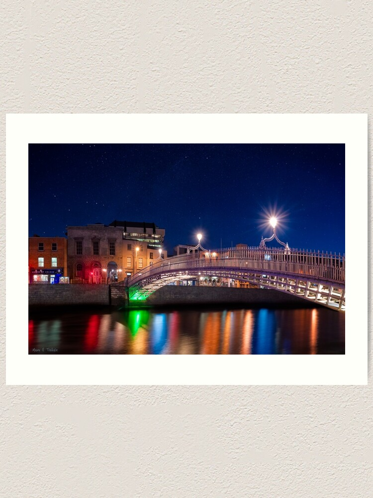 Ha/'penny Bridge Dublin Picture PANORAMIC CANVAS WALL ART Print